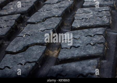 Macro close up tire tread - Stock Photo