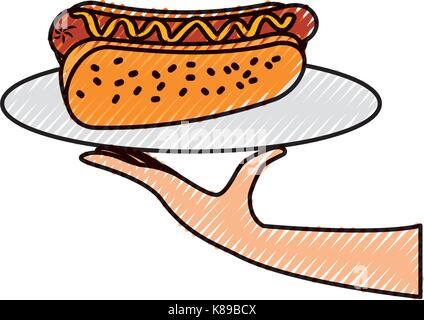 Cartoon Sausage Dog Dressed As A Hot Dog