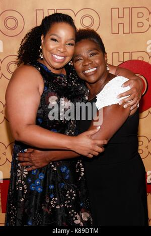 Kimberly Hebert Gregory, Jackie McCleod (mother) at arrivals for HBO Emmy After Party - Part 2, The Pacific Design - Stock Photo