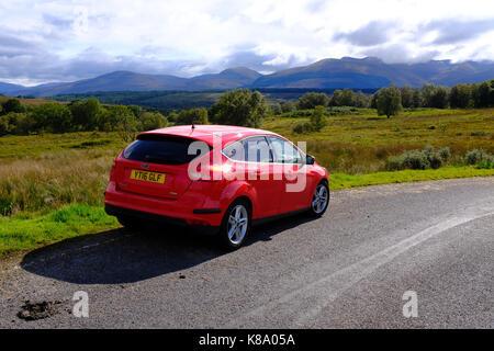 Kilmonivag/Brackletter un named road - Scotland near Spean Bridge - Stock Photo