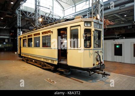 Route der Industriekultur, historische Strassenbahn, DASA, Deutsche Arbeitswelt Ausstellung in Dortmund-Dorstfeld, - Stock Photo