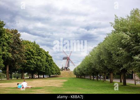 Sint Janshuismolen wind mill - Stock Photo