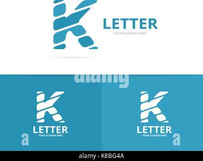 Unique vector letter K logo design template. - Stock Photo