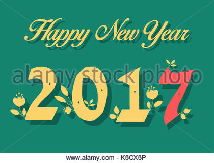 Green Happy New Year 2017 Stock Photo Royalty Free Image 147282079