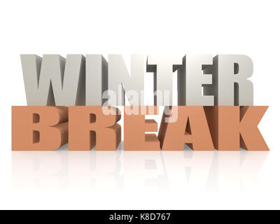 Winter break image with hi-res rendered artwork that could be used for any graphic design. - Stock Photo