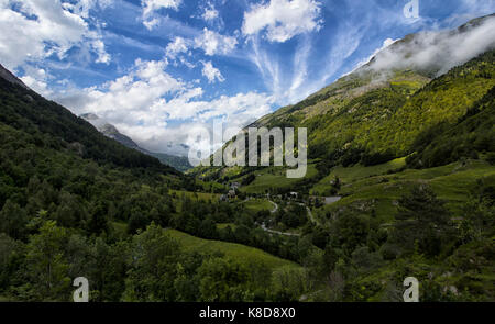 valley in the pyrenees - Stock Photo