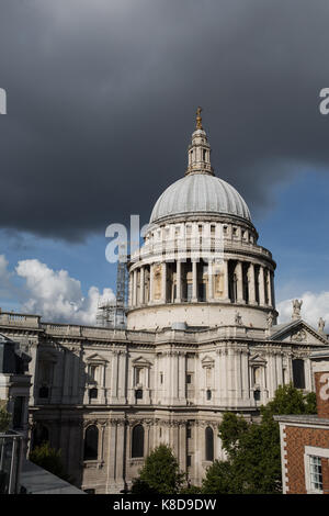 St Paul's Cathedral exterior, in London, in England, on 19 September 2017. - Stock Photo
