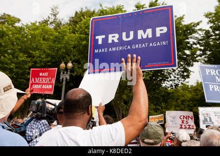 Trump supporter at a pro-Trump rally - Washington, DC USA - Stock Photo