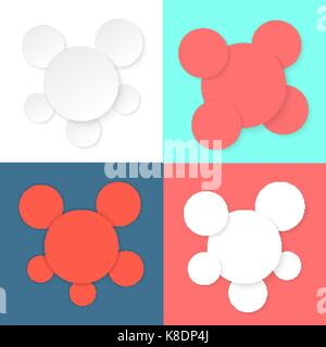 colored different circles template - Stock Photo