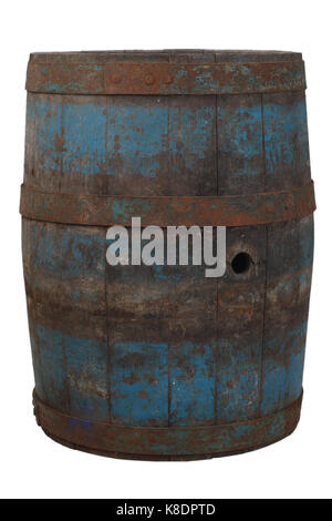 old rusty wooden barrel - Stock Photo