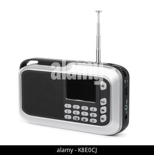 FM radio mp3 player isolated on white - Stock Photo
