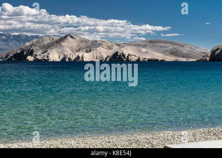 Croatia, Kvarner bay, island Privic in the view of Baska, Kroatien, Kvarner Bucht, Insel Privic in der Ansicht von - Stock Photo