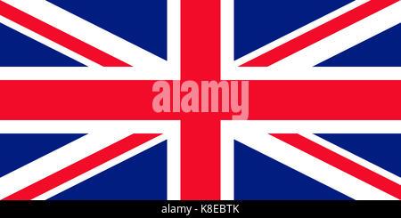 Union Jack, flag Great Britain, United Kingdom - Stock Photo