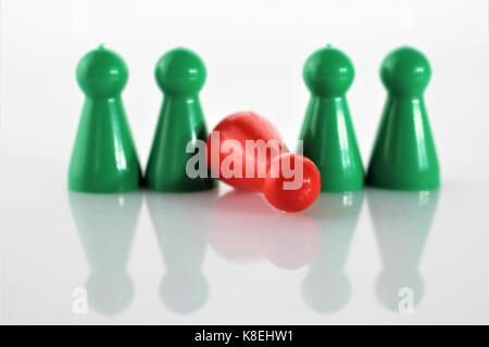 An concept image of a game Parcheesi, Aggravation, and Trouble - Ludo - Stock Photo
