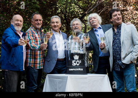 Madrid, Spain. 19th Sep, 2017. Les Luthiers during the press conference celebrating its 50th anniversary in Madrid, Tuesday, Sept. 19, 2017. Credit: Gtres Información más Comuniación on line, S.L./Alamy Live News Stock Photo