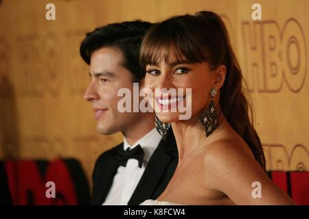 Los Angeles, CA, USA. 17th Sep, 2017. Manolo Gonzalez-Ripoll Vergara, Sofia Vergara at arrivals for HBO Emmy After - Stock Photo