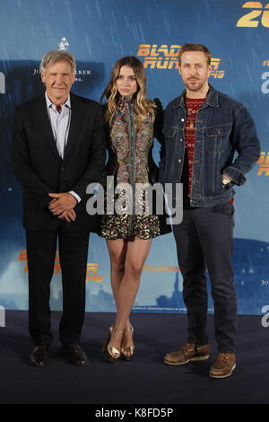 Madrid, Spain. 19th Sep, 2017. at the photocall for Blade Runner 2045 at the Villamagna hotel in Madrid, Spain. September 19, 2017. Credit: Jimmy Olsen/Media Punch ***No Spain***/Alamy Live News Stock Photo