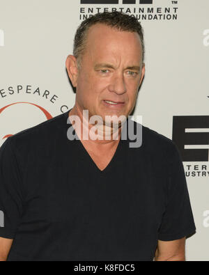 Westwood,USA. 18th Sep,2017. Tom Hanks attends 27th Annual Simply Shakespeare benefit Freud Playhouse,UCLA Westwood,California - Stock Photo
