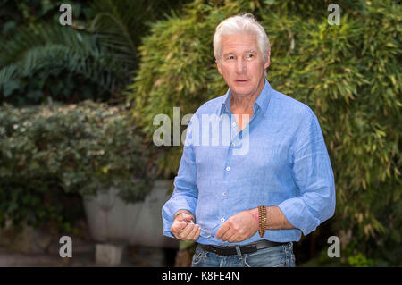 Richard Gere attends the 'Norman' photocall at Quattro Fontane Hotel on September 12, 2017 in Rome, Italy. - Stock Photo