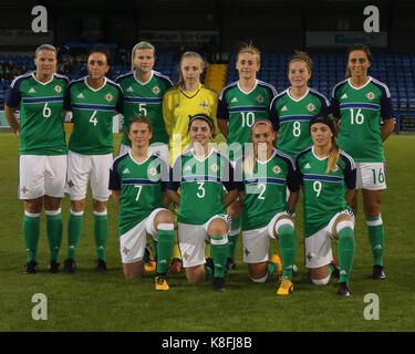 Lurgan, Northern, Ireland. 19th Sep, 2017. 2019 FIFA Women's World Cup Qualifier (Group 3). Northern Ireland v Republic - Stock Photo