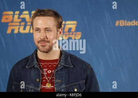 Madrid, Madrid, Spain. 19th Sep, 2017. Ryan Gosling attend 'Blade Runner 2049' photocall at Villa Magna Hotel on September 19, 2017 in Madrid, Spain. Credit: Jack Abuin/ZUMA Wire/Alamy Live News Stock Photo