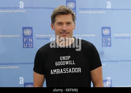 Brooklyn, New York, USA. 19th Sep, 2017. Game of Thrones Star Nikolaj Coster-Waldau During the SDGs Global Goals - Stock Photo