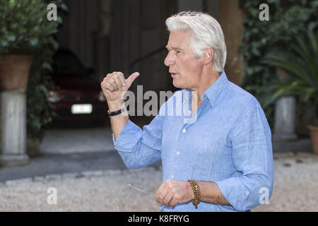 Rome, Italy. 12th Sep, 2017. Richard Gere attends the 'Norman' photocall at Quattro Fontane Hotel on September 12, - Stock Photo