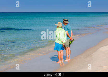 St. Andrews State Park on the Gulf of Mexico in Panama City Beach Florida - Stock Photo