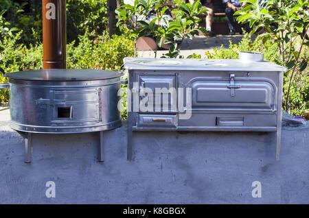 old retro oven - Stock Photo