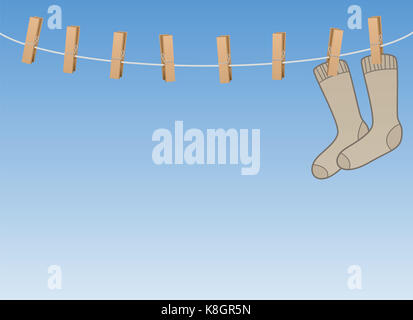 Woolen Socks Hanging On Clothesline Stock Photo 67147695 Alamy