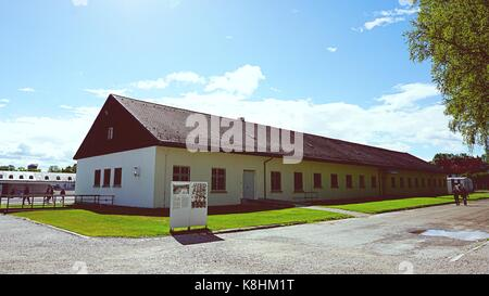 Museum at Dachau Concentration Camp Memorial Site in Dachau, Germany - Stock Photo