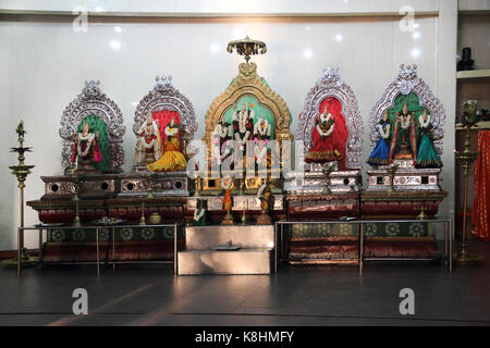 Pettah Colombo Sri Lanka New Kathiresan Kovil Temple Dedicated To War God Murugan Statue Of Hindu Gods - Stock Photo