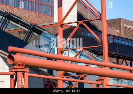 Zollverein Coillery, UNESCO world heritage site, in Essen, Germany, former coal mine, today a mixture of museum, - Stock Photo