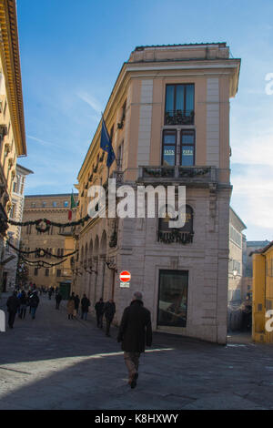 Italy, Siena - December 26 2016: the view of the street and typical building in Siena on December 26 2016 in Siena, - Stock Photo