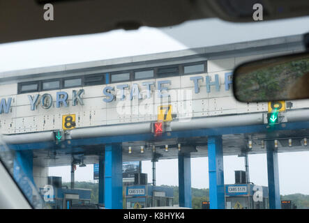 Toll station in New York - Stock Photo