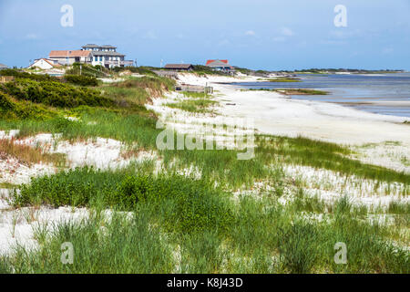 North Carolina NC Cedar Island Outer Banks beach sand dune Pamlico Sound - Stock Photo