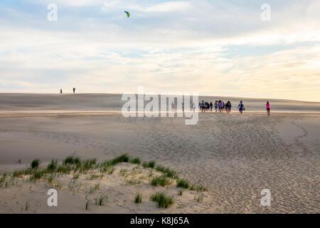Outer Banks North Carolina NC Cape Hatteras National Seashore Jockey's Ridge State Park living sand dune kite - Stock Photo