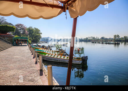 River Boats at Embarcadero, Chiapa de Corzo for Sumidero Canyon - Stock Photo