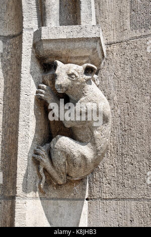Animal as a decor element of the New Town Hall in Munich - Stock Photo