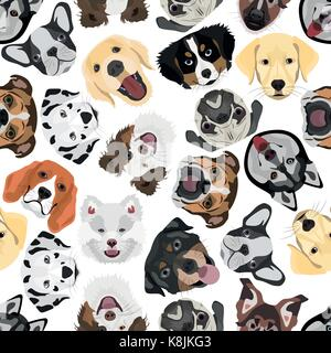 Illustration seamless Pattern Dogs for the creative use in graphic design - Stock Photo