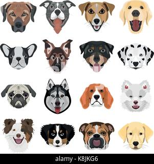 Illustration Collection Dogs for the creative use in graphic design - Stock Photo