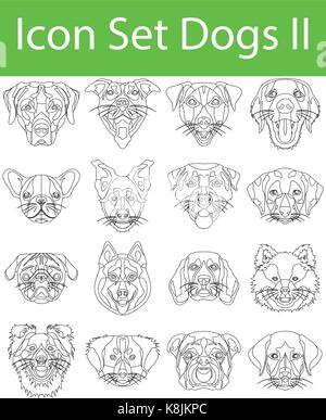 Icon Set Dogs II with 16 icons for the creative use in graphic design - Stock Photo
