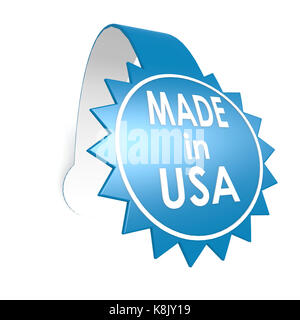 Made in USA star label - Stock Photo