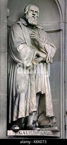 Galileo Galilei 1564 – 1642 was an Italian polymath: astronomer, physicist, engineer, philosopher, and mathematician.Statue - Stock Photo