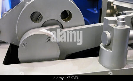 Crank drive gear wheel of industrial plant machine - Stock Photo