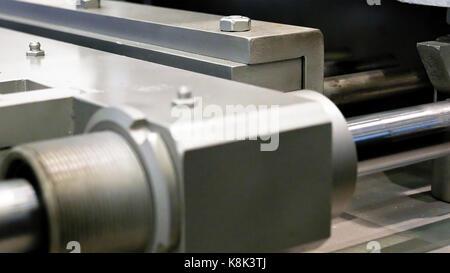 Crank drive gear of industrial plant machine - Stock Photo