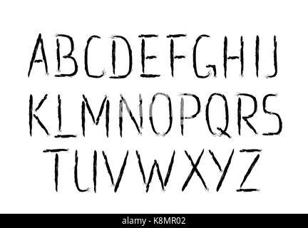 Brush Font Thin Letters - Stock Photo