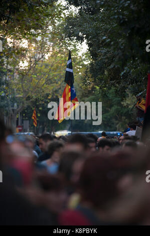 Barcelona, Catalonia. 20th Sep, 2017. Spain. September 20th, 2017. Manager gathered in front of the headquarters - Stock Photo