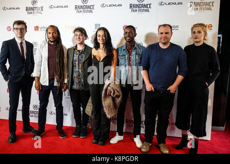 London, UK. 20th Sep, 2017. 25x25 attend Raindance 25th Film Festival Opening Gala at VUE Leicester Square. Credit: - Stock Photo