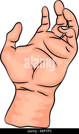 hand palm vector symbol icon design. Beautiful illustration isolated on white background - Stock Photo